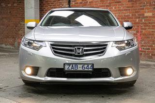 2012 Honda Accord Euro CU MY12 Luxury Navi Alabaster Silver 5 Speed Automatic Sedan.