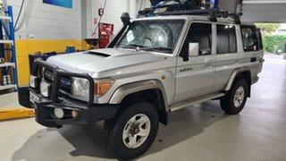 2012 Toyota Landcruiser VDJ76R MY12 Update GXL (4x4) Silver 5 Speed Manual Wagon