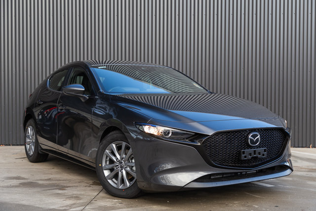 New Mazda 3 BP2H7A G20 SKYACTIV-Drive Pure Mornington, 2021 Mazda 3 BP2H7A G20 SKYACTIV-Drive Pure Machine Grey 6 Speed Sports Automatic Hatchback