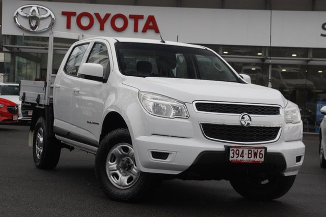 Pre-Owned Holden Colorado RG MY15 LS Crew Cab Upper Mount Gravatt, 2015 Holden Colorado RG MY15 LS Crew Cab White 6 Speed Sports Automatic Cab Chassis