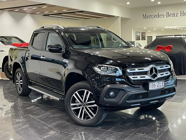 Used Mercedes-Benz X-Class 470 X350d 7G-Tronic + 4MATIC Progressive Hervey Bay, 2019 Mercedes-Benz X-Class 470 X350d 7G-Tronic + 4MATIC Progressive Black 7 Speed Sports Automatic