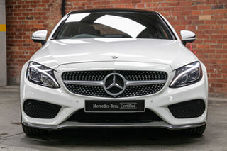 2016 Mercedes-Benz C-Class C205 C200 7G-Tronic + Polar White 7 Speed Sports Automatic Coupe.