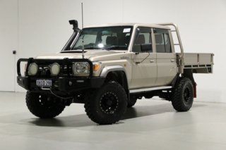 2016 Toyota Landcruiser VDJ79R MY12 Update GXL (4x4) Vintage Gold 5 Speed Manual Double Cab Chassis.