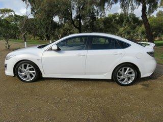 2011 Mazda 6 GH1052 MY12 Luxury Sports White 5 Speed Sports Automatic Hatchback