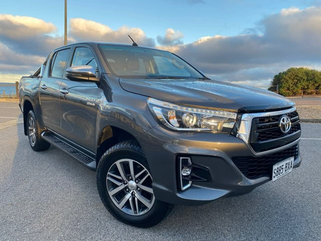 Used Toyota Hilux GUN126R SR5 Double Cab Christies Beach, 2018 Toyota Hilux GUN126R SR5 Double Cab Grey 6 Speed Sports Automatic Utility