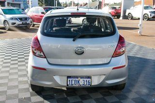 2012 Hyundai i20 PB MY12 Active Silver 4 Speed Automatic Hatchback.
