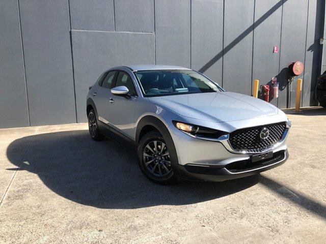 New Mazda CX-30 DM2W7A G20 SKYACTIV-Drive Pure Alexandria, 2021 Mazda CX-30 DM2W7A G20 SKYACTIV-Drive Pure Sonic Silver 6 Speed Sports Automatic Wagon