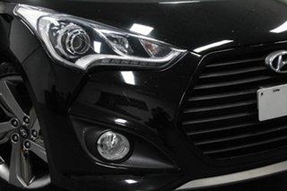 2014 Hyundai Veloster FS3 SR Coupe Turbo Black 6 Speed Sports Automatic Hatchback.