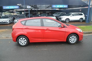 2016 Hyundai Accent RB4 MY17 Active Red 6 Speed CVT Auto Sequential Sedan.