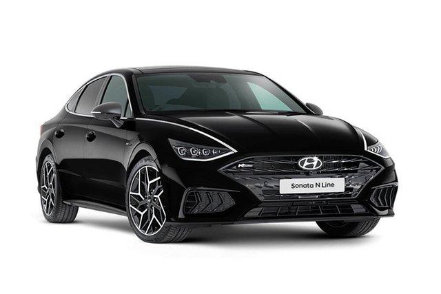New Hyundai Sonata N Line Hamilton, 2021 Hyundai Sonata DN8.V1 N Line Midnight Black 8 Speed Automatic Sedan