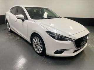 2018 Mazda 3 BN5238 SP25 SKYACTIV-Drive White 6 Speed Sports Automatic Sedan.