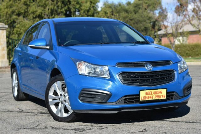 Used Holden Cruze JH Series II MY15 Equipe Enfield, 2015 Holden Cruze JH Series II MY15 Equipe Blue 6 Speed Sports Automatic Hatchback
