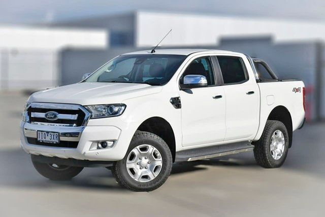 Used Ford Ranger PX MkII XLT Double Cab Pakenham, 2016 Ford Ranger PX MkII XLT Double Cab White 6 Speed Sports Automatic Utility