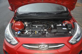2016 Hyundai Accent RB4 MY17 Active Red 6 Speed CVT Auto Sequential Sedan