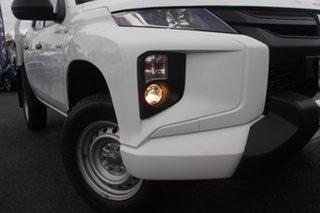 2019 Mitsubishi Triton MR MY19 GLX Double Cab ADAS White Solid 6 Speed Sports Automatic Utility.