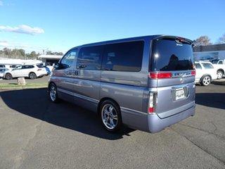 2003 Nissan Elgrand E51 Rider Silver 5 Speed Automatic Wagon.