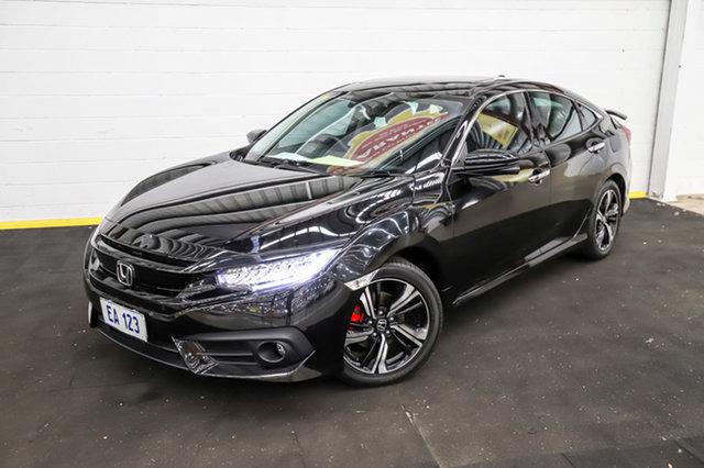Used Honda Civic 10th Gen MY16 RS Canning Vale, 2017 Honda Civic 10th Gen MY16 RS Black 1 Speed Constant Variable Sedan