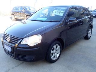 2006 Volkswagen Polo 9N MY06 Upgrade Match Black Metallic 5 Speed Manual Hatchback.