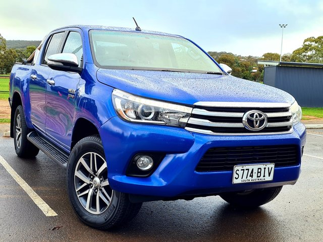 Used Toyota Hilux GUN126R SR5 Double Cab St Marys, 2015 Toyota Hilux GUN126R SR5 Double Cab Blue 6 Speed Sports Automatic Utility