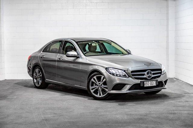 Used Mercedes-Benz C-Class W205 809MY C200 9G-Tronic Southport, 2019 Mercedes-Benz C-Class W205 809MY C200 9G-Tronic Silver 9 Speed Sports Automatic Sedan