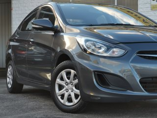 2011 Hyundai Accent RB Active Carbon Grey 4 Speed Sports Automatic Sedan.