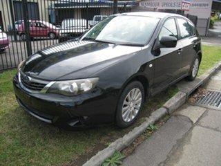 2009 Subaru Impreza MY09 R (AWD) Black 5 Speed Manual Hatchback.
