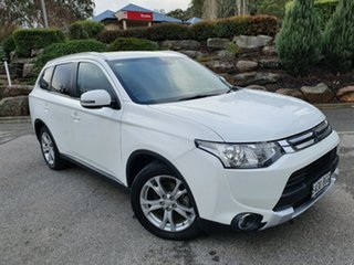 2014 Mitsubishi Outlander ZJ MY14.5 LS 4WD White 6 Speed Constant Variable Wagon.