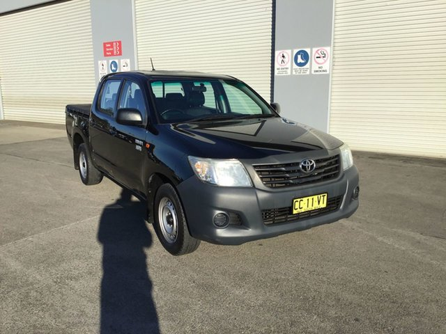 Pre-Owned Toyota Hilux TGN16R MY14 Workmate 4x2 Cardiff, 2014 Toyota Hilux TGN16R MY14 Workmate 4x2 Black 5 Speed Manual Cab Chassis