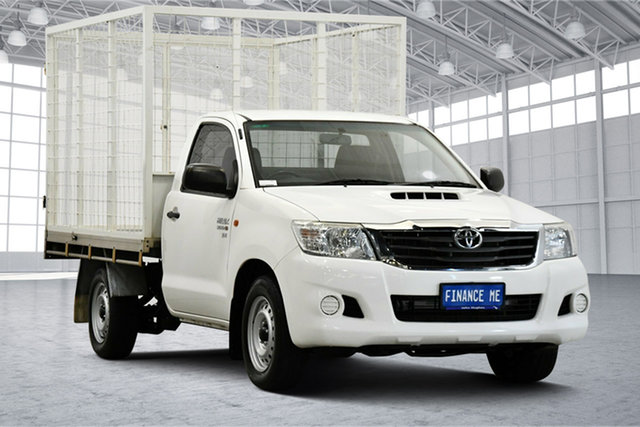 Used Toyota Hilux KUN16R MY14 Workmate 4x2 Victoria Park, 2015 Toyota Hilux KUN16R MY14 Workmate 4x2 White 5 Speed Manual Cab Chassis