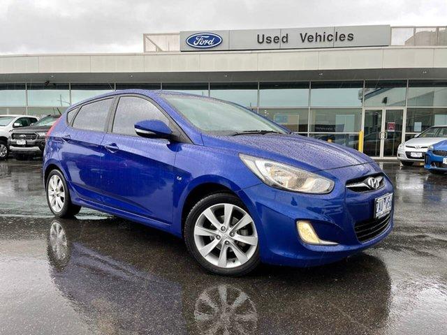 Used Hyundai Accent RB Premium Essendon Fields, 2012 Hyundai Accent RB Premium Blue 4 Speed Sports Automatic Hatchback