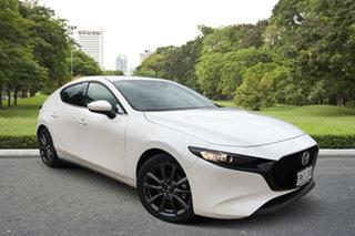 2021 Mazda 3 BP2HLA G25 SKYACTIV-Drive GT White Pearl 6 Speed Sports Automatic Hatchback.