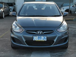 2011 Hyundai Accent RB Active Carbon Grey 4 Speed Sports Automatic Sedan