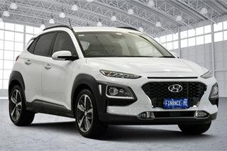2018 Hyundai Kona OS MY18 Highlander D-CT AWD Chalk White 7 Speed Sports Automatic Dual Clutch Wagon.