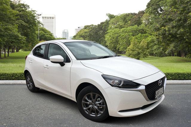 Demo Mazda 2 DJ2HA6 G15 SKYACTIV-MT Pure Paradise, 2021 Mazda 2 DJ2HA6 G15 SKYACTIV-MT Pure White Pearl 6 Speed Manual Hatchback