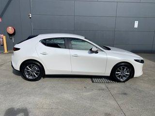 2021 Mazda 3 BP2H76 G20 SKYACTIV-MT Pure Snowflake White 6 Speed Manual Hatchback.