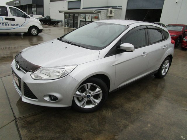 Used Ford Focus LW MkII MY14 Trend PwrShift Caboolture, 2015 Ford Focus LW MkII MY14 Trend PwrShift Silver 6 Speed Sports Automatic Dual Clutch Hatchback