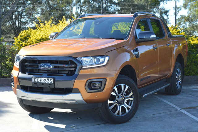 Used Ford Ranger PX MkIII 2019.00MY Wildtrak Maitland, 2019 Ford Ranger PX MkIII 2019.00MY Wildtrak Orange 10 Speed Sports Automatic Double Cab Pick Up
