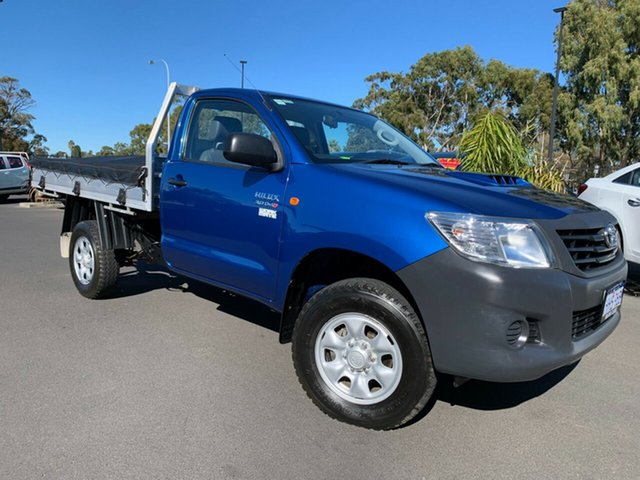 Used Toyota Hilux KUN26R MY12 Workmate Bunbury, 2012 Toyota Hilux KUN26R MY12 Workmate Blue 5 Speed Manual Cab Chassis