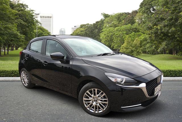 Demo Mazda 2 DJ2HAA G15 SKYACTIV-Drive GT Paradise, 2021 Mazda 2 DJ2HAA G15 SKYACTIV-Drive GT Jet Black 6 Speed Sports Automatic Hatchback