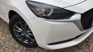 2021 Mazda 2 DJ2HA6 G15 SKYACTIV-MT Pure White Pearl 6 Speed Manual Hatchback.