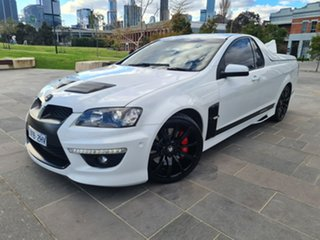 2011 Holden Special Vehicles Maloo E Series 3 MY12 R8 SV Black Edition White 6 Speed.