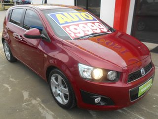 2012 Holden Barina TM MY13 CDX Red 6 Speed Automatic Hatchback.