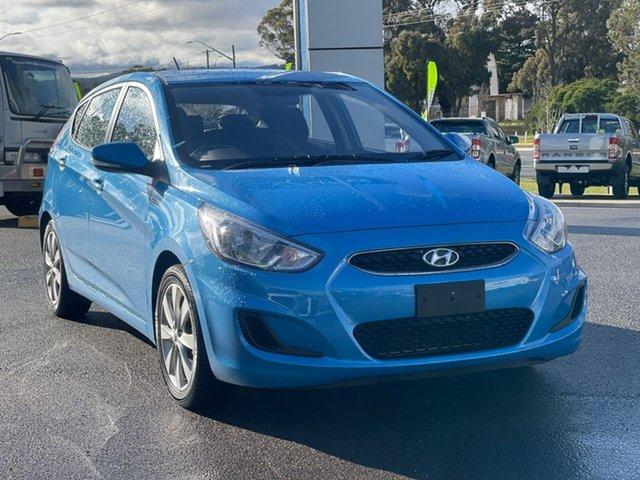 Used Hyundai Accent Sport Goulburn, 2018 Hyundai Accent Sport Blue Sports Automatic Hatchback
