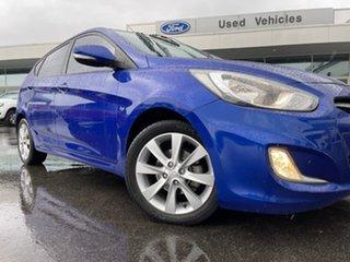 2012 Hyundai Accent RB Premium Blue 4 Speed Sports Automatic Hatchback.