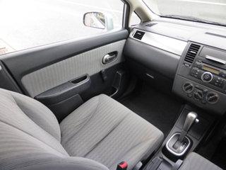 2009 Nissan Tiida C11 MY07 ST Akoya Silver 4 Speed Automatic Hatchback.