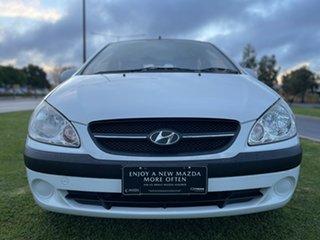 2010 Hyundai Getz TB MY09 S White 4 Speed Automatic Hatchback.