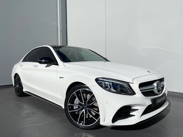 Used Mercedes-Benz C-Class W205 801MY C43 AMG 9G-Tronic 4MATIC Liverpool, 2020 Mercedes-Benz C-Class W205 801MY C43 AMG 9G-Tronic 4MATIC White 9 Speed Sports Automatic Sedan