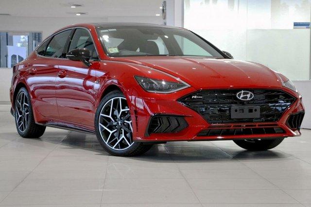 New Hyundai Sonata DN8.V1 MY21 N Line DCT Springwood, 2021 Hyundai Sonata DN8.V1 MY21 N Line DCT Flame Red 8 Speed Sports Automatic Dual Clutch Sedan