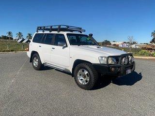 2011 Nissan Patrol GU VII ST (4x4) White 5 Speed Manual Wagon.