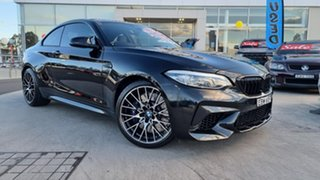 2018 BMW M2 F87 LCI Competition M-DCT Black Sapphire 7 Speed Sports Automatic Dual Clutch Coupe.